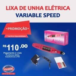 Lixa de Unha Elétrica Variable Speed- Entrega grátis