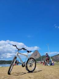 Bicicleta Monark Aro 26 Marchas Branca usada