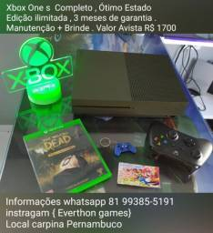 Título do anúncio: Xbox one s Completo Ótimo Estado . HD 1 terá