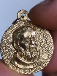 Pingente medalha Papa Pio