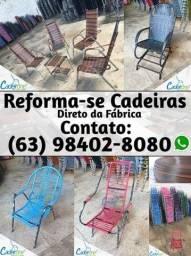 Reforma de Cadeiras de Fibra Sintética e ou Espaguete direto na Indústia Cadeirone