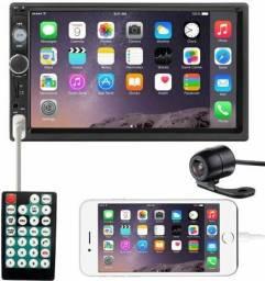 Central Multimídia Mp5 2din Bluetooth + Espelhamento + Câmera De Ré Colorida - Import Ts<br><br>