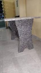 Mesa de Mamore com 6 cadeiras