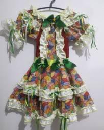Vestido Junino 6-8 anos