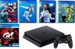 Título do anúncio: PS4 + 5 Jogos - Playstation 4