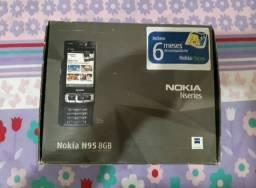 Celular Nokia N95 8GB Black - Peça de Colecionador<br><br>