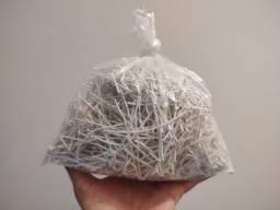 Título do anúncio: Arames amarrilho lacre encapado branco para saco de pão, fecho, orquídea, artesanato 500gr