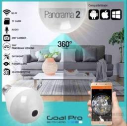 Câmera Lâmpada Espiâ com Wifi 360 Panoramica entregamos