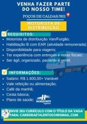 Título do anúncio: Motorista de Distribuição - Poços de Caldas/MG