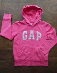Blusão Gap Moletom Flanelado Pink