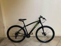 Bicicleta venice 1.0 aro 29 mormaii preta com verde