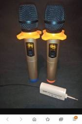 Título do anúncio: Microfone duplo dourado profissional