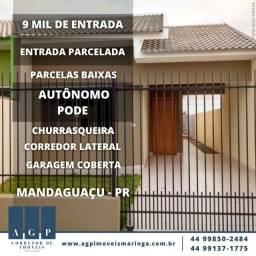 Casa em Mandaguaçu - PR - 9 mil de entrada!