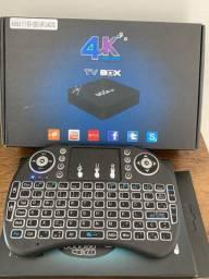 Tv box mx9 com mini teclado
