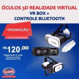 Óculos 3D Realidade Virtual Vr Box + Controle Bluetooth ? Entrega grátis