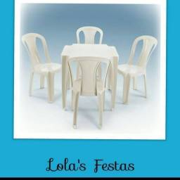 Locação de Mesas e Cadeiras a partir de 10,00 o conj.