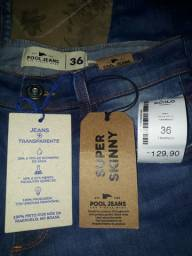 Calça Nova pool jeans tamanho 36