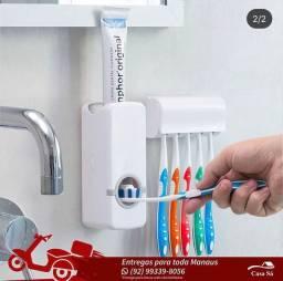 Dispenser Pasta com Suporte Para Escova de Dente