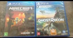 Título do anúncio: Minecraft Ps4, Ghost Reacon Wildlands ps4