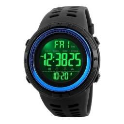 Título do anúncio: Relógio Masculino Skmei 1251 Preto/Azul 5ATM Original