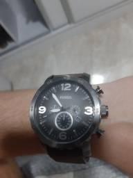 Fossil JR1424 Nate com cronógrafo pulseira De Couro Marrom Relógio Masculino