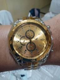 Relógio analógico masculino de metal