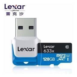 Cartão de memória Lexar 128gb Microsdxc Class10 Uhs-i 95mb/s + Pronta Entrega