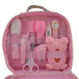 Kit De Higiene 13 Peças Cuidados De Saúde Bebê Recém Nascido Rosa