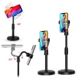 Suporte Tripé Apoio Celular Smartphone Mesa Portátil 360° Base super estável