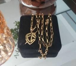 Corrente de Prata Banhada a Ouro