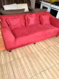 Título do anúncio: Sofá vermelho nunca usado
