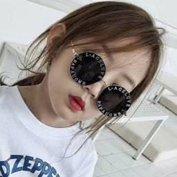 Óculos de sol infantil redondo