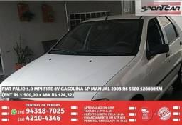 Fiat Palio 1.0 Mpi Branco Fire 8v Gasolina 4p Manual 2003 R$ 5683 128093km - 2003