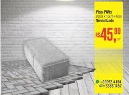 Piso PAVs de Concreto 20x10x6cm - m²