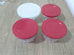 Kit com 4 vasilhas de vidro