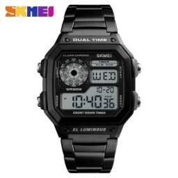 8895f9e685f Relógio Masculino Skmei Digital Esportivo Original ( Preto   Prata )