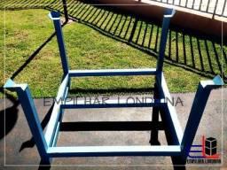 Gaiola aberta empilhável rack metálico desmontável galvanizado porta pallet pbr chapatex