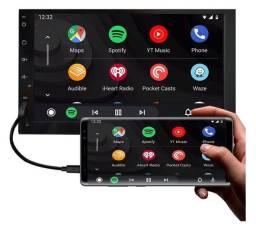 Central Multimídia Espelhamento iOS Android MP3 MP4 MP5 Bluetooth USB SD FM AUX