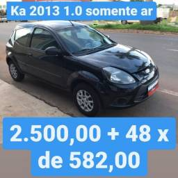 Ka 2013 1.0 Somente AR 2.500,00 mais 48x de 582,00