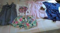 Lote de roupas para menina