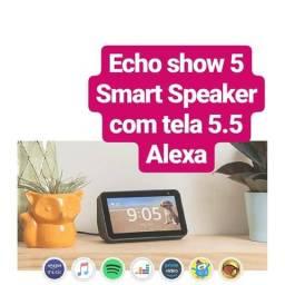 Echo Show 5- Smart Speaker com tela de 5,5 Alexa- cor preta