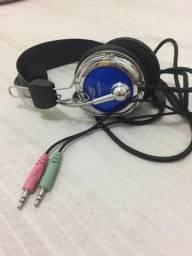 Fone de ouvido C3 Tech Pterodax Prata/Azul