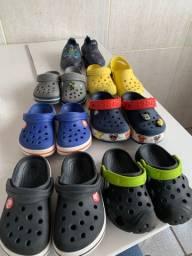 Lote de calçados infaltil crocs