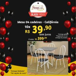 Mesa tubular 4 cadeiras - Araguari