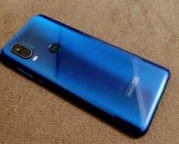 Motorola one vision novinho com todos os acessórios