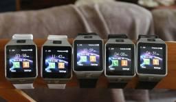 Relógio celular smarthwatch chip ligação mensagens Bluetooth