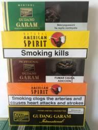 Letreiro Djarum blac Gudang Garam cafe creme inspiro american spirit tabaco