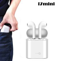 Fone de Ouvido sem Fio Bluetooth i7 mini Branco Androi e IOS