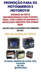 Baterias de moto recondicionadas SOMENTE PARA MOTO PARTIDA PEDAL SÓ 40*