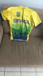 Vendo camisa de ciclismo do Brasil.